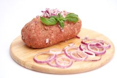Fresh meat with onions Stock Photography