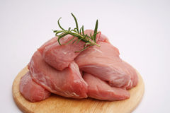 Fresh meat of a pork Stock Photo