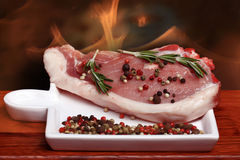 Fresh meat pork spare Royalty Free Stock Images