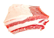 Fresh meat rib on white Royalty Free Stock Photography