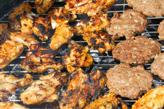Fresh meat shish kebab Stock Image