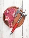 Fresh meat steak Stock Photos