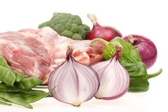 Fresh meat and vegetables Stock Photo