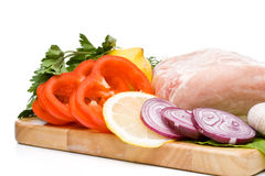 Fresh meat with vegetables Stock Image