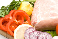 Fresh meat with vegetables Stock Photography