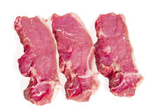 Fresh meat on a white background Stock Photo