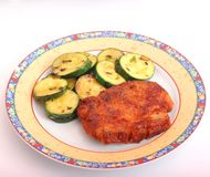 Fresh meat with zucchini Royalty Free Stock Images