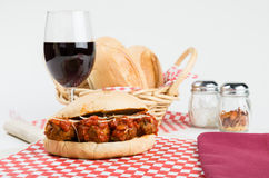 Fresh meatball sub sandwich for lunch Stock Image