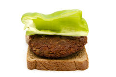 Fresh Meatball with Toast Bread and Capsicum Royalty Free Stock Photos