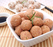 Fresh meatballs Royalty Free Stock Image