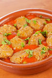 Fresh meatballs with parsley Royalty Free Stock Photos