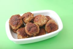 Fresh meatballs Stock Photo