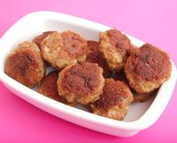 Fresh meatballs Royalty Free Stock Photos
