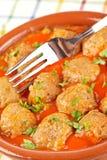 Fresh Meatballs With Peas Stock Image