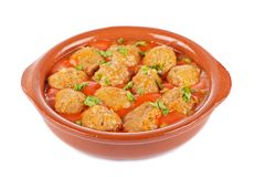Fresh Meatballs With Peas Royalty Free Stock Images