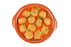 Fresh Meatballs With Peas Stock Photography