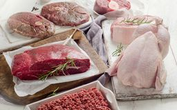 Variety of meat Royalty Free Stock Images