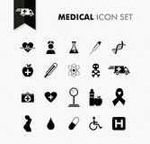 Fresh medical icon set. Royalty Free Stock Photos