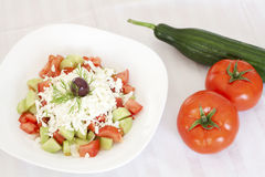 Fresh Mediterranean salad Stock Images