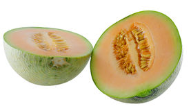 Fresh melon on isolated white background Stock Images