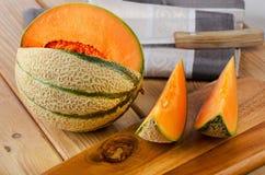 Fresh Melon. Selective focus Royalty Free Stock Photo