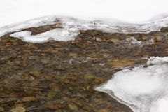 Fresh melt water stream Stock Photos