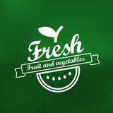 Fresh menu label design Stock Image