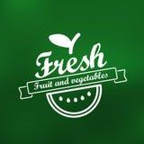 Fresh menu label design Stock Image
