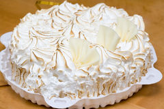 Fresh meringue cake Stock Image