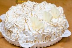 Fresh meringue cake Stock Image
