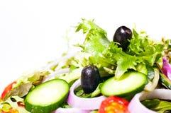 Fresh mesclun salad extreme close up Royalty Free Stock Photos