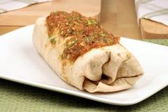 Fresh mexican burrito Stock Image