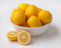 Fresh Meyer Lemons from the Tree Stock Photos