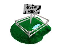Fresh milk Royalty Free Stock Image