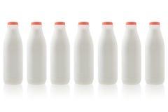 Fresh milk in bottles Royalty Free Stock Image