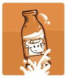 Fresh Milk chocolate. Vector illustration Royalty Free Stock Photos
