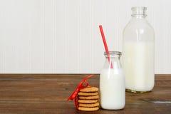 Fresh milk and cookies Stock Image