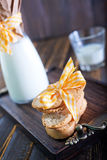 Fresh milk with cookies Royalty Free Stock Image