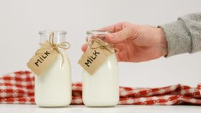 Fresh milk farmers market healthy dairy product royalty free stock image