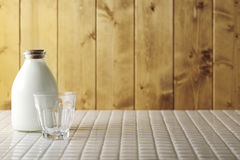 Fresh milk and glass Stock Images