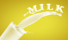Fresh milk in the glass Royalty Free Stock Photos