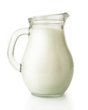 Fresh milk in glass jug Stock Photo