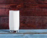 Fresh milk in glass Royalty Free Stock Photos
