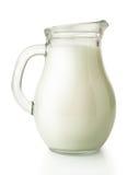 Fresh Milk In Glass Jug Stock Photo