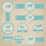 Fresh Milk Label Design Royalty Free Stock Image