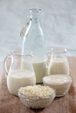Fresh milk products Stock Image