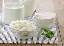 Fresh milk products Stock Photo