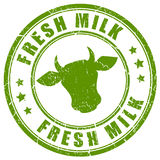 Fresh milk stamp. On white background Royalty Free Stock Photography