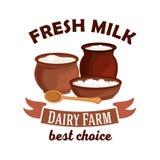 Fresh milk vector isolated icon Stock Photos