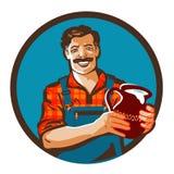 Fresh milk vector logo. drink, farmer icon Royalty Free Stock Photo